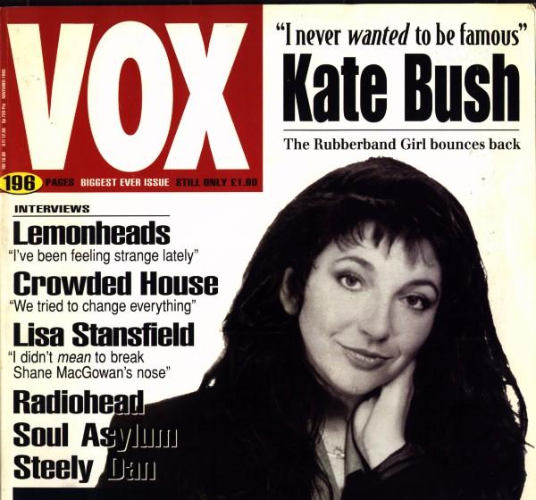 Gaffaweb - Kate Bush - REACHING OUT - Vox, Nov  1993